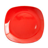 Red plate — Stock Photo