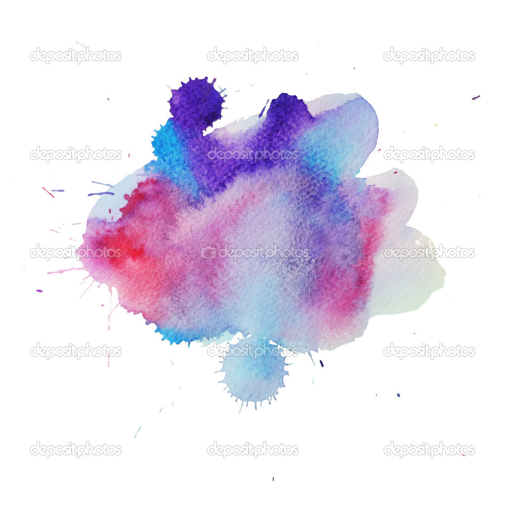 A watercolor abstract  blot with pink and blue — Stock Photo #11220363