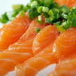 salmon seshimi — Stock Photo