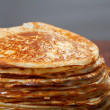 Stock Photo: Stack of pancakes - russian traditional food