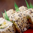 Japanese sushi traditional japanese food. — Stock Photo