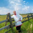Man in national Russian clothes — Stock Photo #11604872