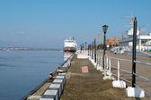 Icebreaker ship quay — Stock Photo