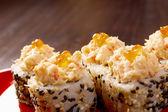 Japanese sushi traditional japanese food. — Stock Photo