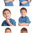 Stock Photo: Set Mischievous Boy