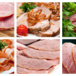 Food set  arrangement of meat - Stock Photo