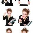 Set    stressed crazy Businesswoman — Stock Photo