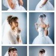 Bride dressed in elegance white wedding — Stock Photo