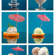 Food set ice cream — Stock Photo