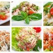 Food set Healthy Salad — Stock Photo