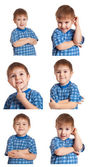 Set Mischievous Boy — Stock Photo