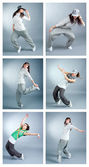 Set modern style dancer posin — Stock Photo