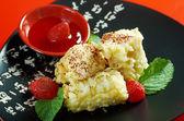 .Dessert with banana — Stock Photo