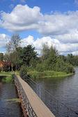 мост на реке — Стоковое фото