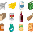 Supermarket icons — Stockvectorbeeld