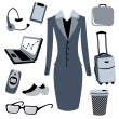 Bussiness woman accessories set - Stock Vector