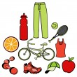 Stock Vector: Healthy life style