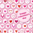 Valentine's Day pattern — Stockvectorbeeld