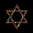 Star of David shape - Stockvectorbeeld