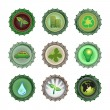 Bottle caps set-enviroment — Stock Vector