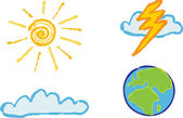 Shiny weather icons — Stock Vector