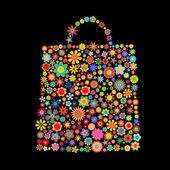 çiçek çanta — Stok Vektör