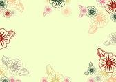 цветочная рамка — Cтоковый вектор