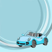 Little blue car — Stock Vector