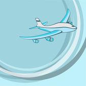 Malé modré letadlo. — Stock vektor