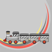 Little funny train — Stock Vector