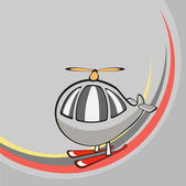 Little funny helicopter — Stock Vector