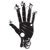Lidská ruka sihloette — Stock vektor