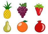 Frucht-Symbole — Stockvektor