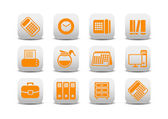 Office equipment icons — Stock Vector