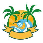 Tropical islands — Stock Vector