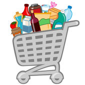 Shopping cart — Vector de stock