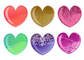 Beautifull hearts icon set — ストックベクタ
