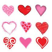 Conjunto de ícones de corações — Vetorial Stock