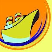 Malá loď — Stock vektor