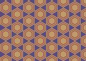 Hexagon retro abstract background — Stock Vector