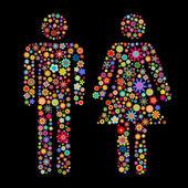 Men and women shape — Stock Vector