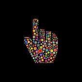 Cursor mão — Vetor de Stock