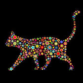 Kočičí tvar — Stock vektor