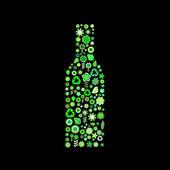 Bottle shape — Stock Vector