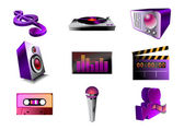 Audio icon set — Stock Vector