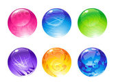 Decoration balls — Stock Vector
