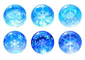 Winter balls — Stock Vector