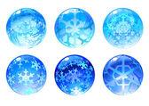Winter balls — Stock Vector