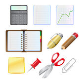 Office supplies icon set — Stock Vector