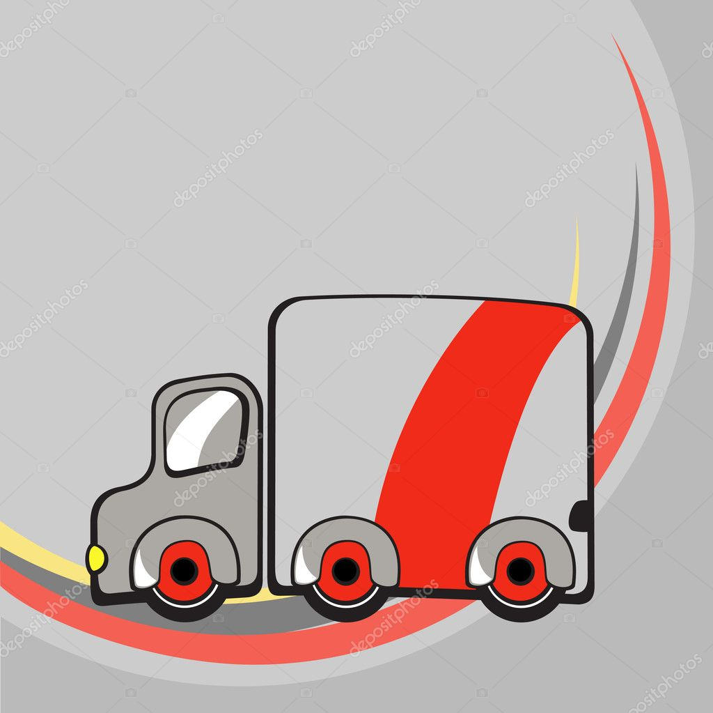 Vector illustration of  Transport Cartoon  . Little funny truck. — Stock Vector #11573043